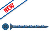 DeWalt Countersunk Tapper+ Concrete Screw 4.8 x 57mm Blue Pk100