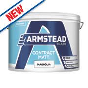 Armstead Trade Contract Matt Paint Magnolia 10Ltr