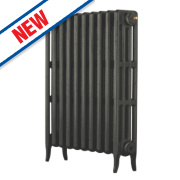 Arroll Neo Classic 4-Column Cast Iron Radiator Pewter 760 x 754mm