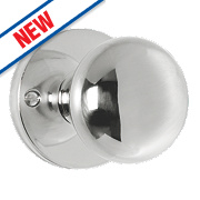 Carlisle Brass Mushroom Mortice Knob Pair Polished Chrome 52mm