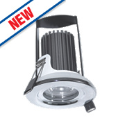 Luceco Fire Rated Fixed Integrated LED Downlight IP65 Polished Chrome 5.5W
