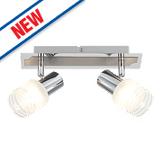Brilliant Lea 2-Light LED Spotlight Satin Chrome 450Lm 5W