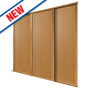 Spacepro 3 Door Panel Sliding Wardrobe Doors Oak 2236 x 2260mm
