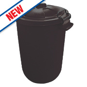Stockshop Wolseley Feed Storage Bin Polypropylene Black 80Ltr