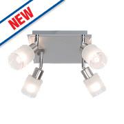 Brilliant Giorgia 4-Light LED Spotlight Satin Chrome 900Lm 5W