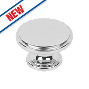 Hafele Modern Cabinet Knob Polished Chrome 38mm