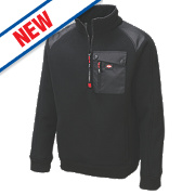 "Lee Cooper Ribbed Fleece Jacket Black X Large "" Chest"