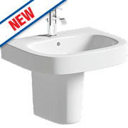Milan Semi-Pedestal Basin 1 Tap Hole 610mm