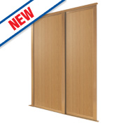 Spacepro 2 Door Panel Sliding Wardrobe Doors Oak 1803 x 2260mm