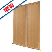 Spacepro 2 Door Panel Sliding Wardrobe Doors Oak 1803 x 2260mm