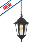 Zinc Black Hanging Lantern