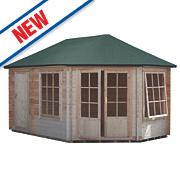 Shire Leygrove & Rowney Felt Roof Log Cabin 3 x 4.3 x 2.8m