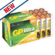 GP Batteries Ultra Alkaline Batteries AAA Pack of 24