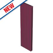 Moretti Modena Double Panel Vertical Designer Radiator Claret 1800x433mm