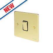 Schneider Electric 1-Gang 2-Way 16AX Light Switch Polished Brass