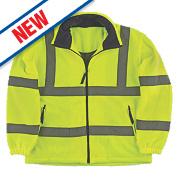 Portwest F300 Hi-Vis Mesh Lined Fleece Yellow / Orange Medium