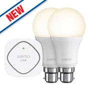 WeMo Wi-Fi LED Lighting Starter Set 9.5W BC