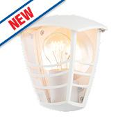 Zinc Perdita White Half Wall Lantern 60W