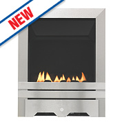 Focal Point Lulworth Flueless Inset Gas Fire Stainless Steel 2.3kW