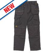 "DeWalt Pro Canvas Work Trousers Black 38"" W 29"" L"