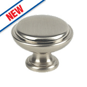 Fingertip Design Shaker Cabinet Door Knob Satin Nickel 35mm