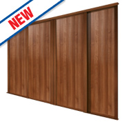 Spacepro 4 Door Panel Sliding Wardrobe Doors Walnut 2998 x 2260mm