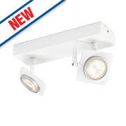 Philips Millennium 2-Light LED Ceiling Spotlight Matt White