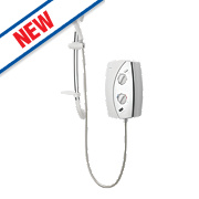Gainsborough e50 Electric Shower White / Chrome 8.5kW