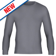 Workforce WFU2600 Long Sleeve Thermal T-Shirt Baselayer Grey Medium 33-35