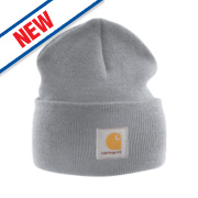 Carhartt A18 Beanie Hat Heather Grey