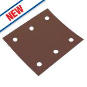 Flexovit ¼ Sanding Sheets Aluminium Oxide 114 x 102mm 120 Grit Pk5