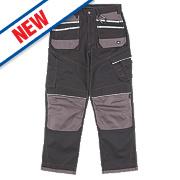 """Hyena Snowdon Trousers Black / Grey 40"""" W 32/34"""" L"""