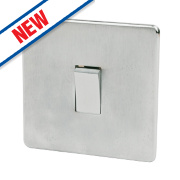 Crabtree 1-Gang 2-Way Switch Brushed Chrome