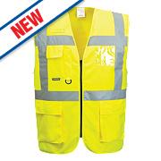 "Portwest Hi-Vis Thermal Waistcoat Yellow Medium 41"" Chest"