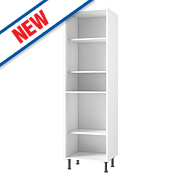 White Kitchen Tall Larder Cabinet 600 x 570 x 2115mm
