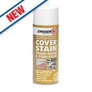 Zinsser Cover Stain Spray White 400ml