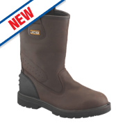 JCB Trackpro Rigger Boots Brown Size 12