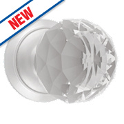 Dempsey & Locke Unsprung Glass Mortice Knobs Pair Satin Chrome 65mm