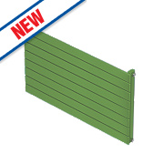Moretti Modena Single Panel Horizontal Radiator Green 578 x 800mm