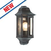 Saxby 60W Satin Black Traditional Outdoor Wall Lantern