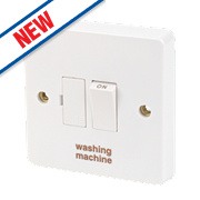 Crabtree 13A Switched Fused Connection Unit - Washing Machine White Pack of 10