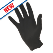 Eppco Grease Bully Nitrile Disposable Gloves Black Large Pk100