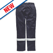 "Dickies FR5300 Pyrovatex Trousers Navy 34"" W 31"" L"