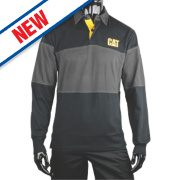 CAT Rugby Shirt Black/Grey Large 42-44