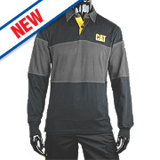 "CAT Rugby Shirt Black/Grey Large 42-44"" Chest"