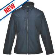 Portwest Charlotte Ladies Soft Shell Jacket Navy XX Large