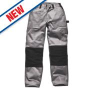 Dickies Grafter Work Trousers Grey / Black 40