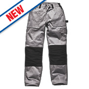 "Dickies Grafter Work Trousers Grey / Black 40"" W 32"" L"