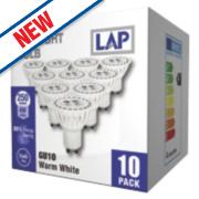 LAP GU10 LED Lamp 250Lm 4W Pack of 10