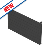Moretti Modena Single Panel Horizontal Radiator Charcoal 578 x 1000mm